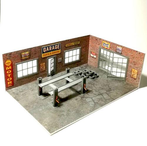 Brick Diorama Garage Kit