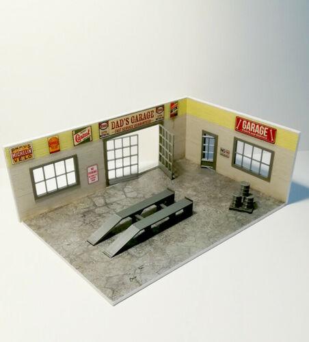 Diorama Dads Garage Kit-in Scale 1:43