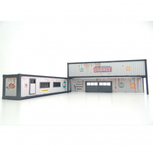 40 ft Containers Auto Service Garage Car Models Scale 1:43