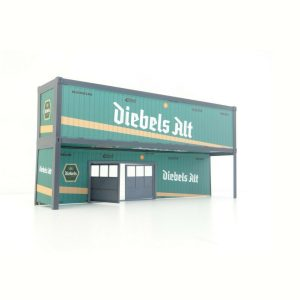 3D Background Container Garage Scale 1:43